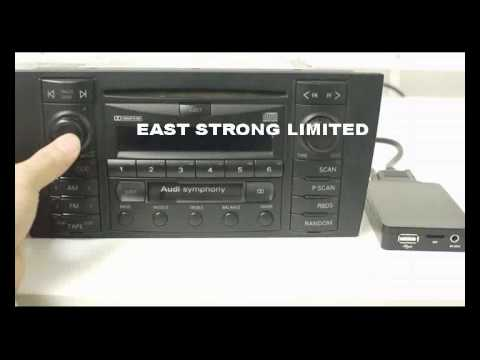 AUDI(8pin version) digital cd changer installation and operation