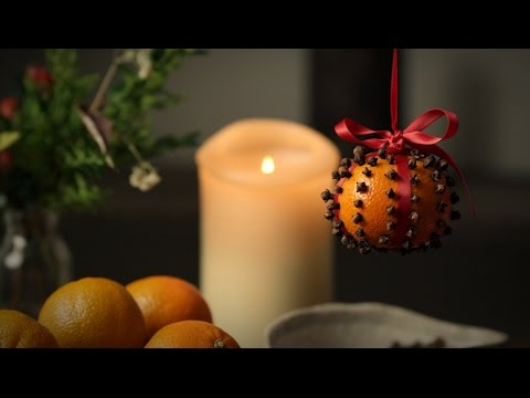 M S Food How To Make Clementine Clove Christmas Decorations Youtube