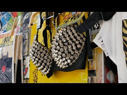 4K  - Great shopping places for fashion in Tokyo (one minute), Japan Part 1