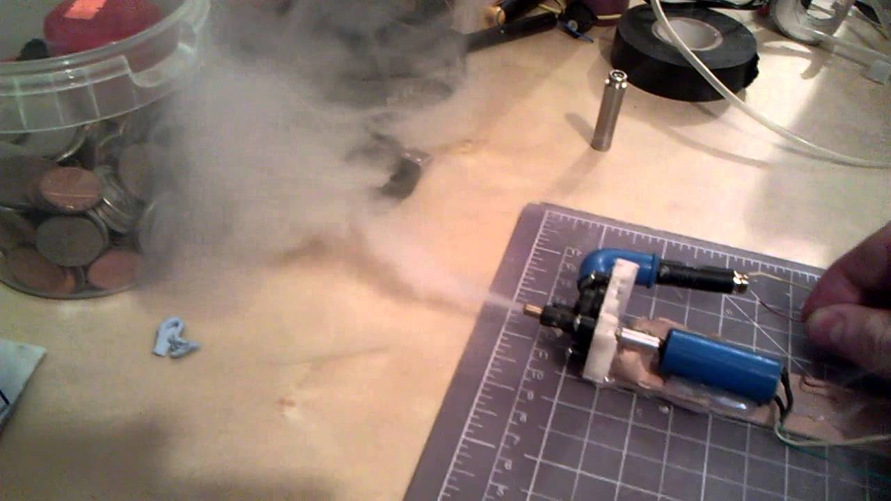 E Cigarette Smoke Machine Prototype Youtube