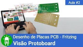 Desenho de Placas de Circuito Impresso - Aula 2 - Visão Protoboard