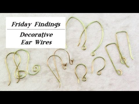 DIY Decorative Ear Wires-How to Make Custom Ear Wire Shapes-Friday Findings
