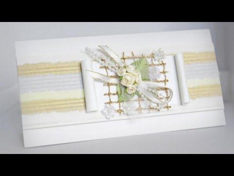 Открытка Белые розы - свадебная поздравительная открытка