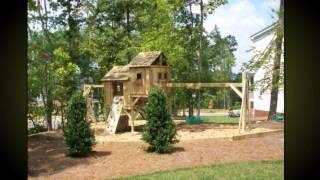 Как оформить детскую площадку -- интересные идеи