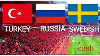 TÜRKİYE - İSVEÇ - RUSYA ●Türkiye' nin maç aday  kadrosu 2018/19