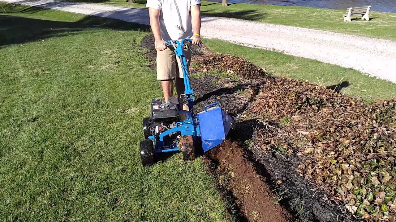 High Quality How To Edge Garden Beds With A Bluebird Bed Bug Landscape Edger In New  Oxford PA  Ryanu0027s Landscaping   YouTube