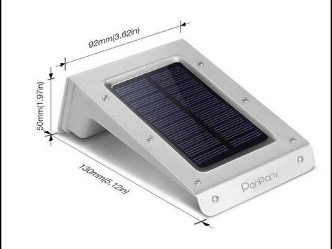 Panpany LED Leuchte großes Solarlicht Wasserdicht Außenbeleuchtung extrem hell