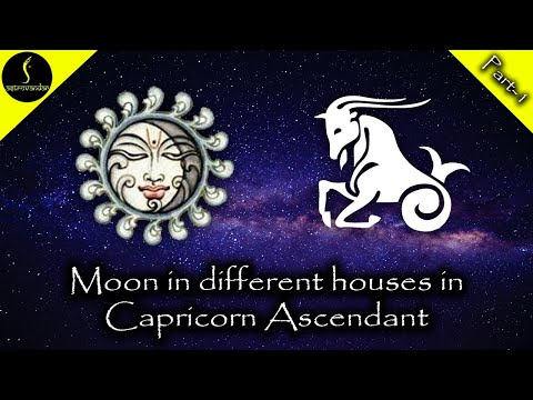 Moon In Different Houses In Capricorn Ascendant Part 1