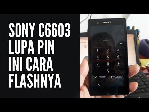 CARA FLASH SONY C6603 LUPA PIN DENGAN FILE LOCK REMOVE
