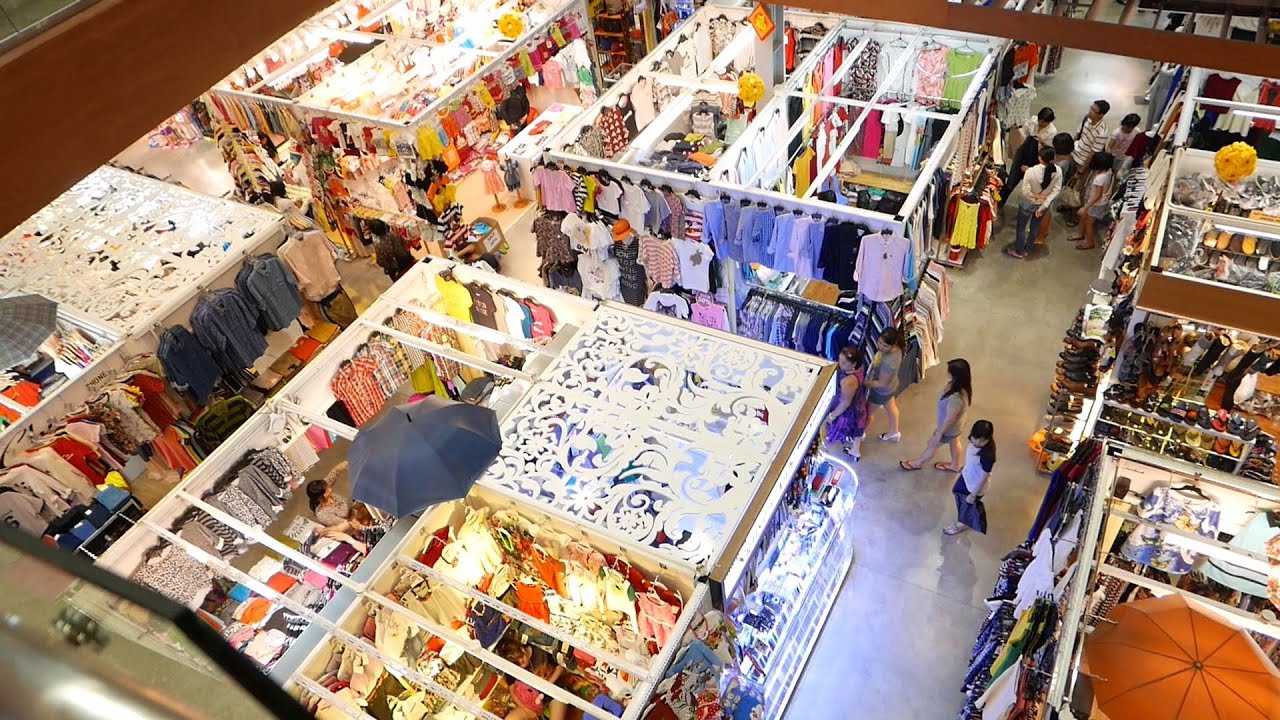 Travelers buy souvenirs in ho chi minh city stock photo