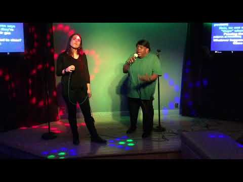 """Joanne D. Kendall & Averi Segapeli doing a karaoke rendition of """"Class"""" from the movie """"Chicago"""""""