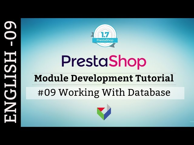 EN009 - Working with Database | PrestaShop Module Development Tutorial