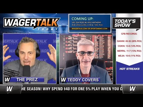 Daily Free Sports Picks | NFL Picks and a UFC 254 Betting Preview on WagerTalk Today | Oct 23