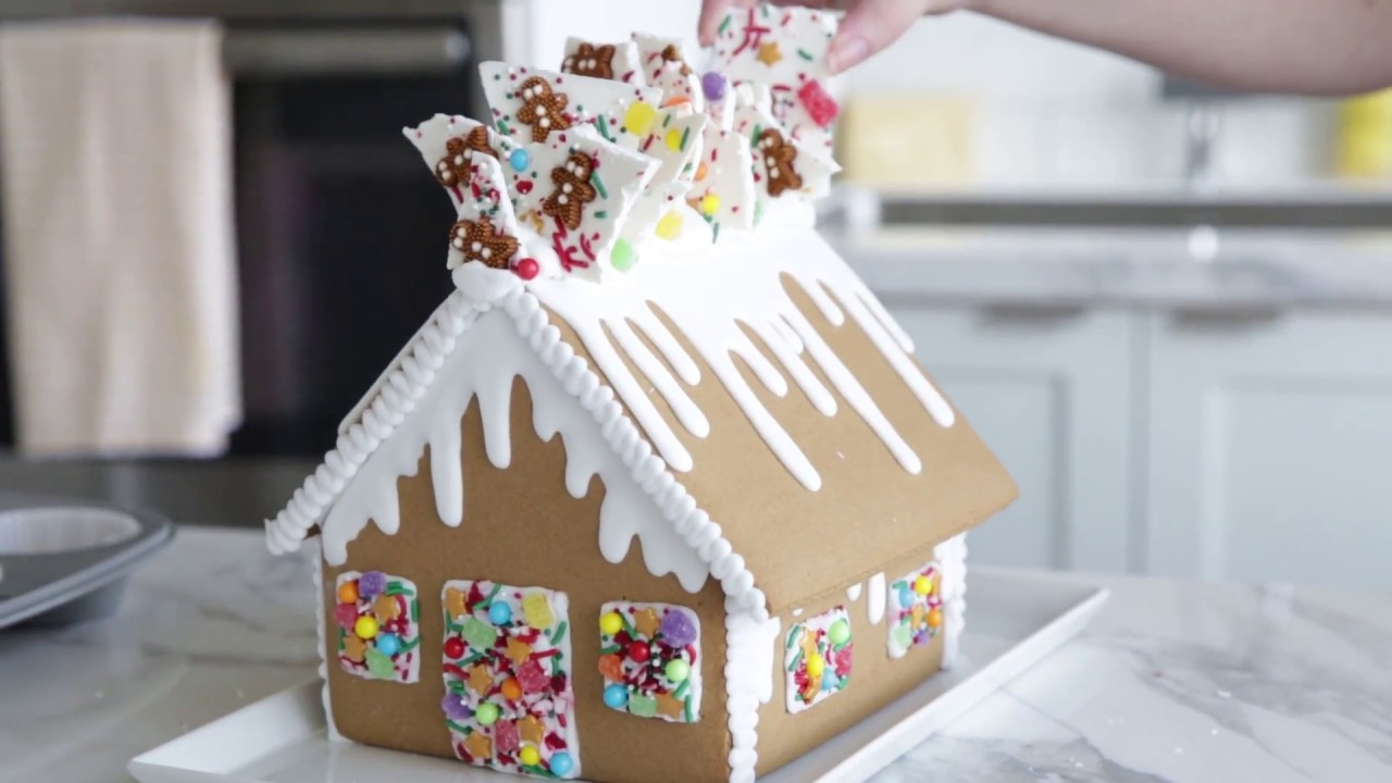 Fun Gingerbread House Decorating Idea & Fun Gingerbread House Decorating Idea - YouTube