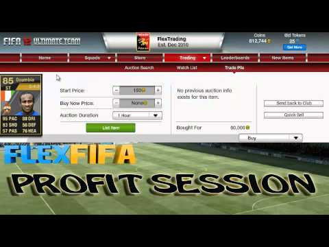 """FIFA 12 Ultimate Team - Profit Session 1B - """"Happy Hour Trading"""""""