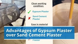 Advantages of Gypsum Plaster over Sand Cement Plaster