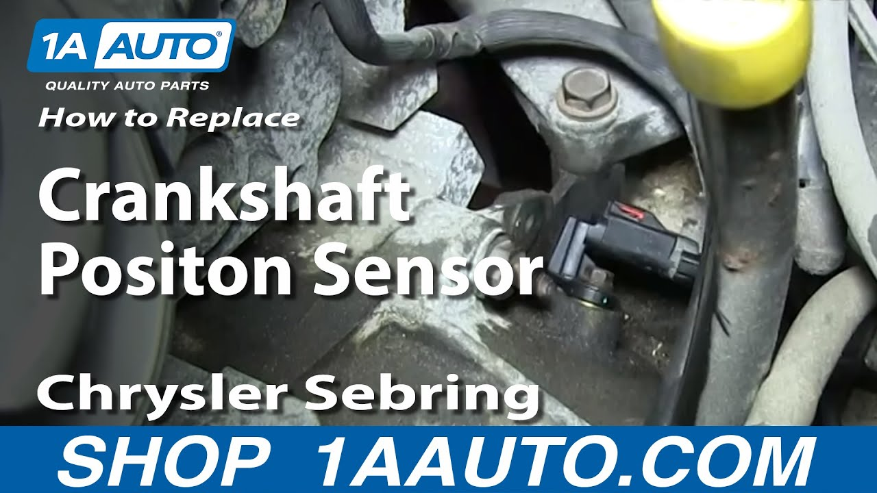 medium resolution of how to install engine crankshaft positon sensor 2 7l 2001 06 chrysler sebring dodge stratus more