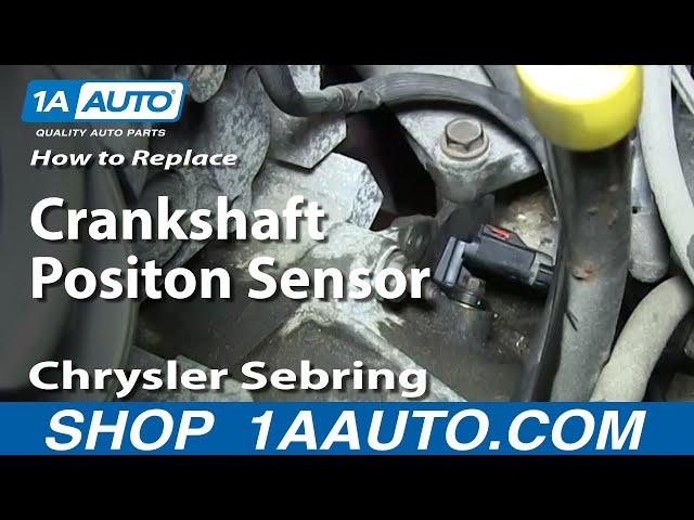 How to Replace Crankshaft Position Sensor 01-06 Chrysler Sebring 2.7  Chrysler Lhs Cam Sensor Wiring Diagram on