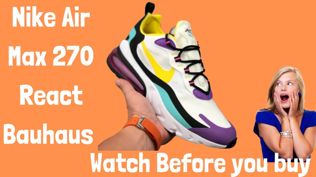 "Nike Air Max 270 React Bauhaus 2020""Bright Violet"