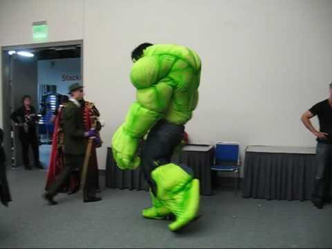 mikescostumescom showing off the hulk costume youtube