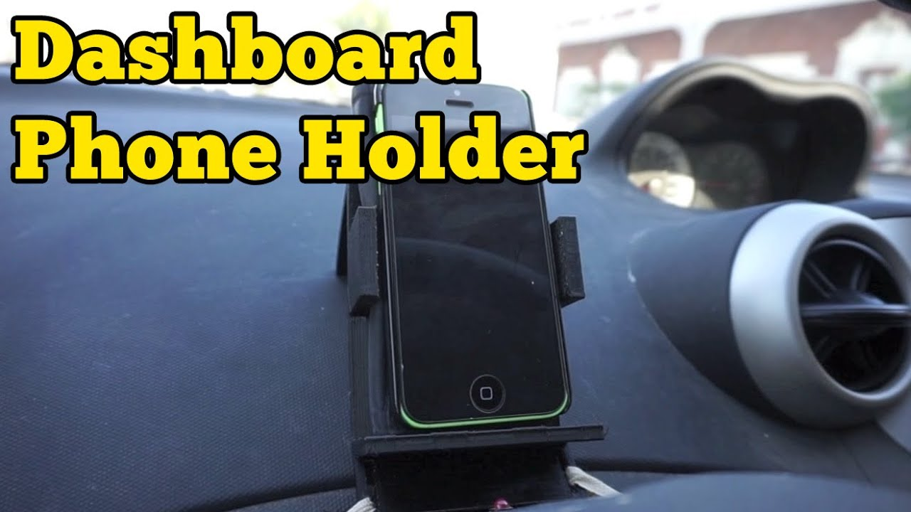 Just Do It Later 3d Printed Dashboard Phone Holder | Barb Makes Things #4