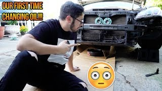 CHANGING OIL ON THE GENESIS FOR THE FIRST TIME!!! LOL thumbnail