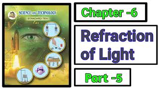 Part-5 ch-6th Refraction of light science class 10th new syllabus maharashtra board.