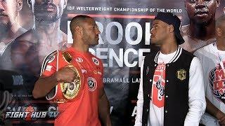 INTENSE! The Full Kell Brook vs  Errol Spence Face Off Video - Final Press Conference