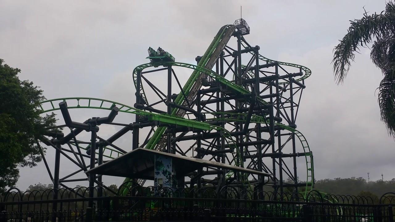 Movie World Green Lantern Coaster Youtube