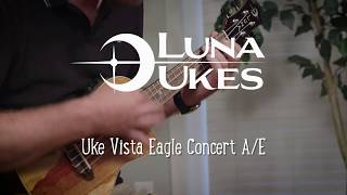 Luna Ukulele Vista Eagle Concert with Fishman