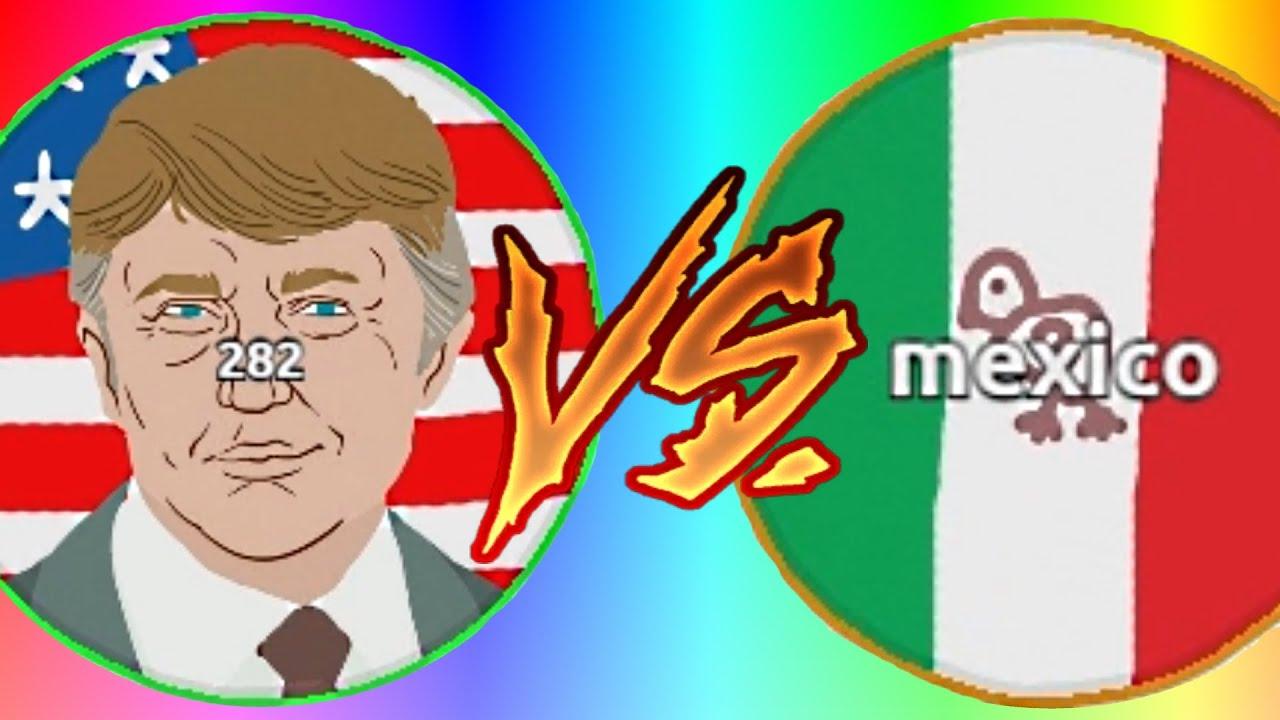 TRUMP VS MEXICO - MAKE AGAR.IO GREAT AGAIN! - MLG BORDER ...