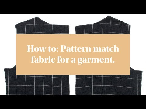 How To: Pattern Match Fabric for a Garment