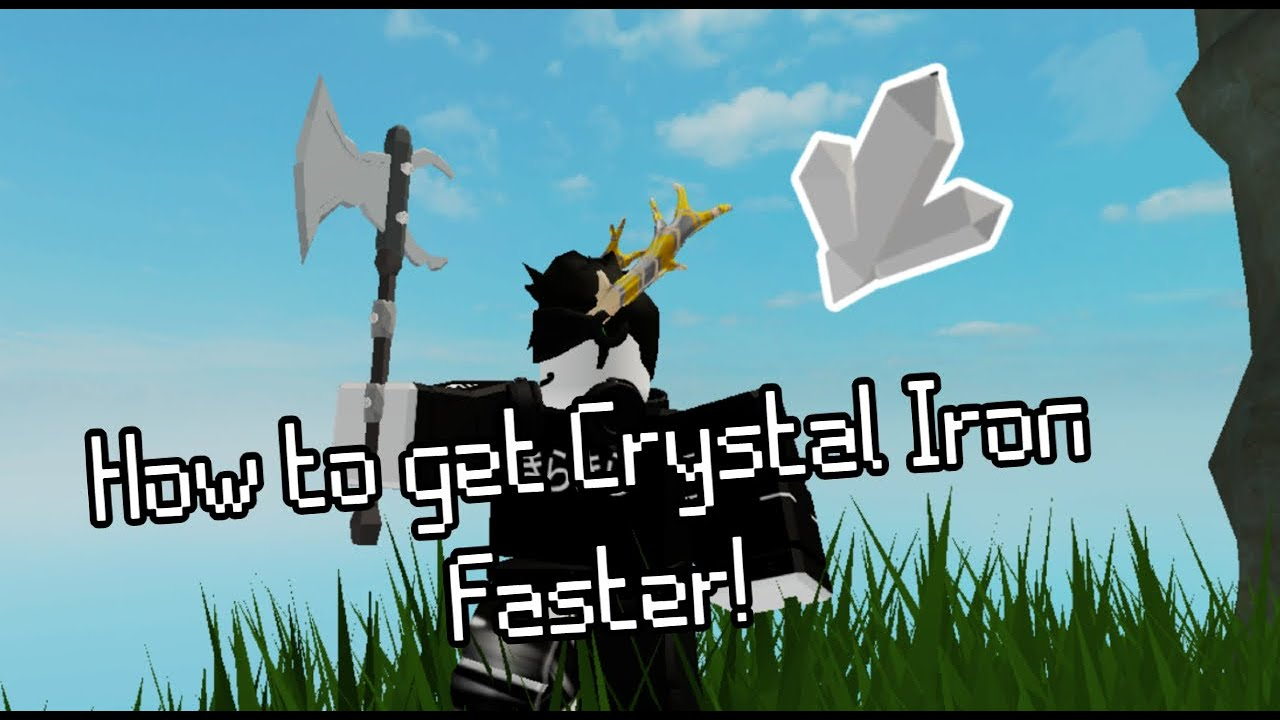 How To Get Crystallized Iron Faster Skyblock Roblox Youtube