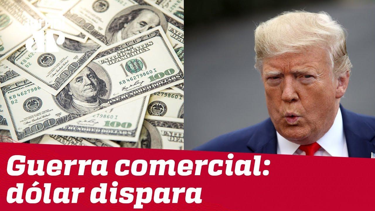 JOVEM PAN NEWS - Dólar dispara com posicionamento de Trump sobre tarifas impostas à China