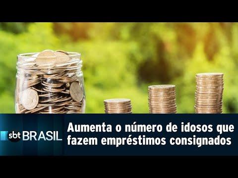 Aumenta o número de idosos que fazem empréstimos consignados   SBT Brasil (13/08/18)