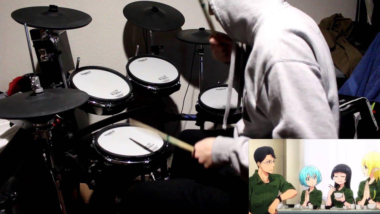 Gate Jieitai Kanochi Nite Kaku Tatakaeri Enryuu Hen Ed 2 Itsudatte Communication Drum Youtube