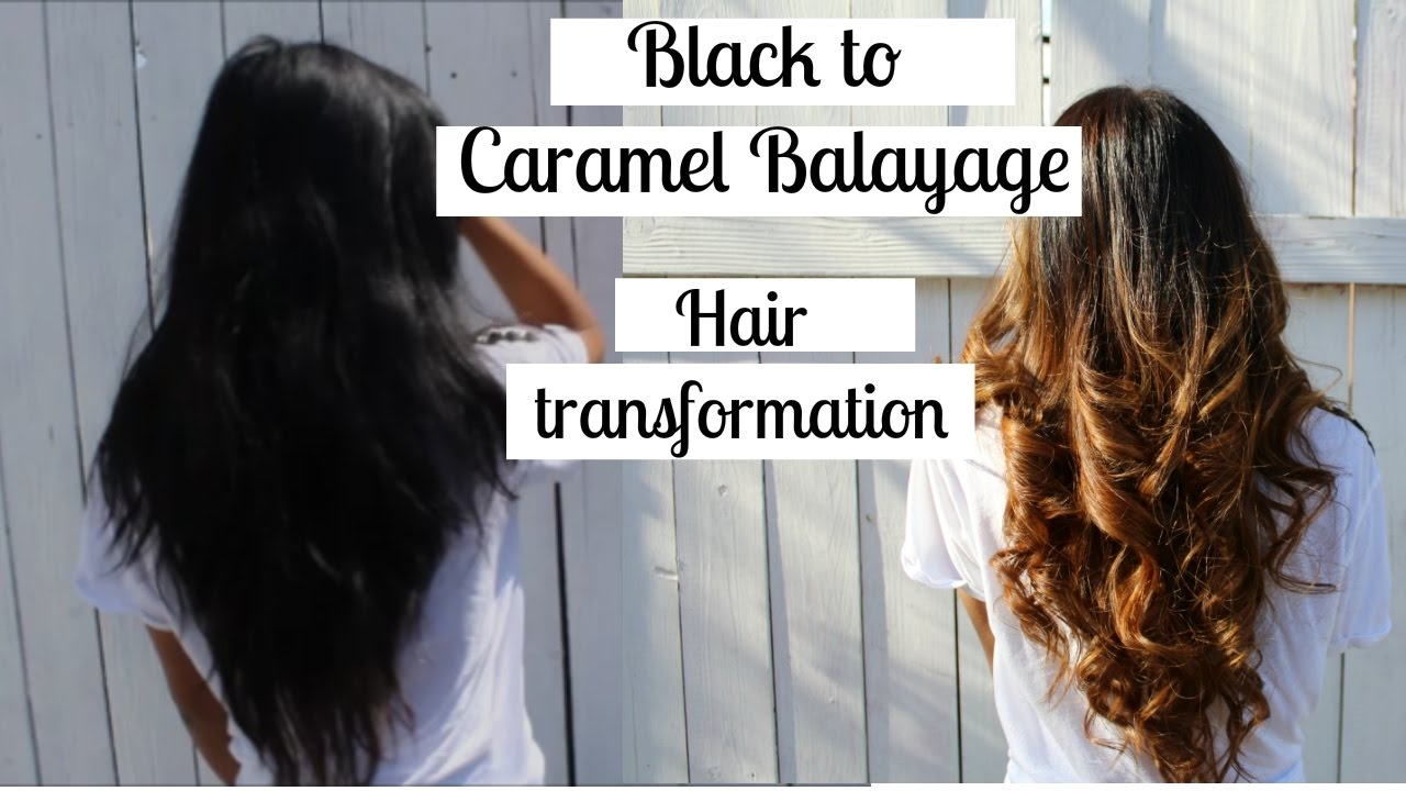 Black To Caramel Balayage Ombre Hair Transformation Youtube