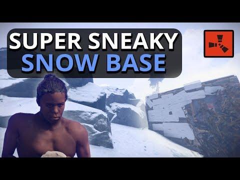 Building A Super SNEAKY Snow BASE!! Rust Solo Survival Part 1
