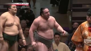 Okinoumi vs Tochinoshin - Hatsu Basho 2018 - Day 3
