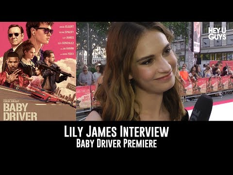 Lily James Baby Driver UK Premiere Interview