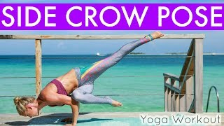 Home Yoga Workout - SIDE CROW POSE | Rebecca Louise