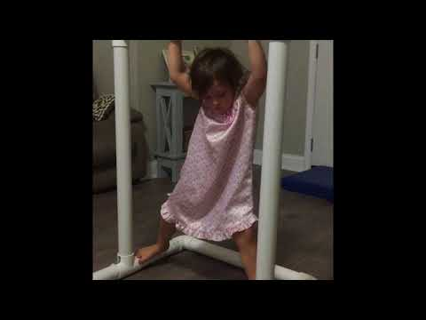 Gymnastic Lessons By A Kid