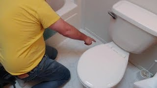 How to Fix a Wobbly Toilet - permanently without shims