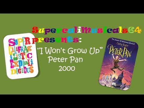 I Won't Grow Up - Lyrics Peter Pan (2000)