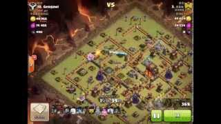 Clash of Clans TH10 3 Star War Strategy - 5 Lightning Spells + 1 Earthquake Spell