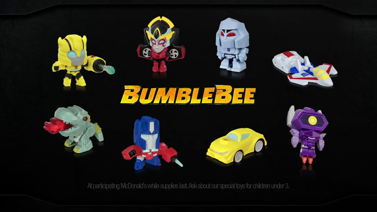 McDonald's US Bumblebee Movie Happy Meal Toy Commercial And