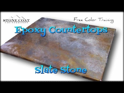 Epoxy Countertops Slate Stone Color Training