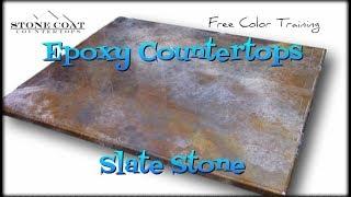 Epoxy Countertops Slate Stone Color Training