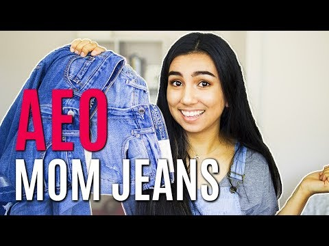 American Eagle Mom Jeans Try On Review
