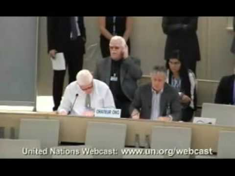 Under The Same Sun: Peter Ash speaking at the United Nations Human Rights Council in Geneva